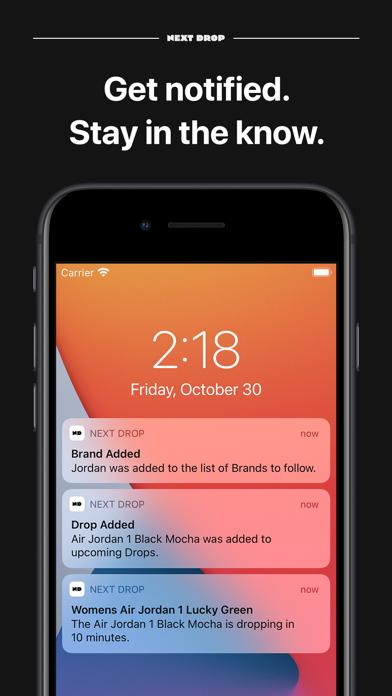 Next Drop – Don't Miss a Drop Screenshot