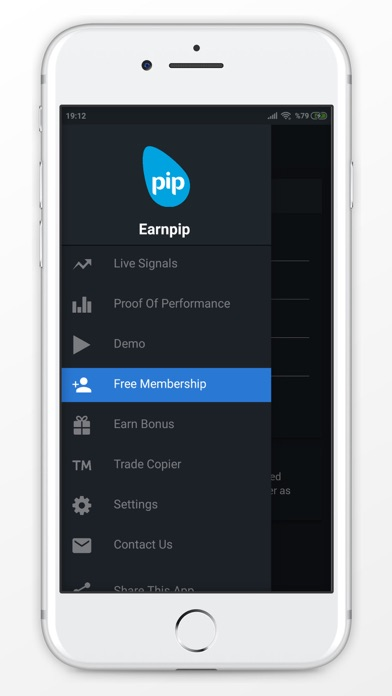 Screenshot of Earnpip - Live Forex Signals App