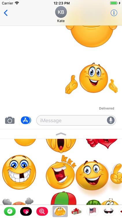 Funny Emoji Sticker Pack screenshot-4