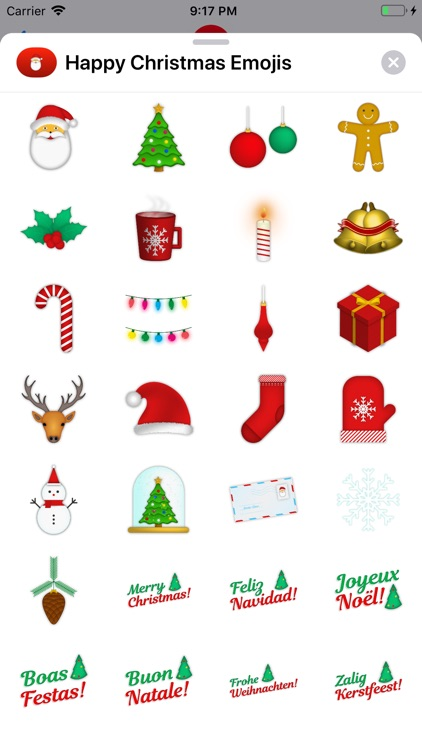 Happy Christmas Emojis
