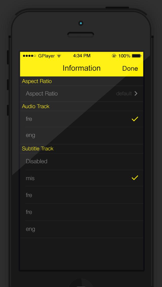 GPlayer - le lecteur vidéo iPhone