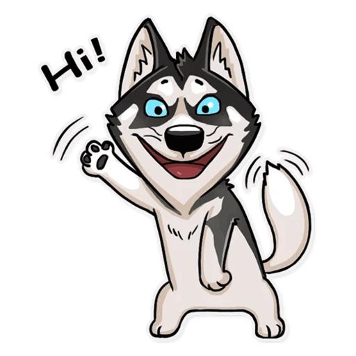 Husky Dog Funny Stickers