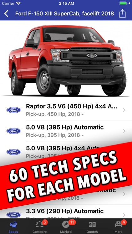 Ford Specs ◆