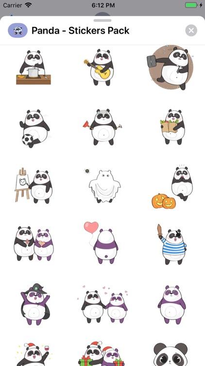 Panda - Stickers Pack screenshot-8