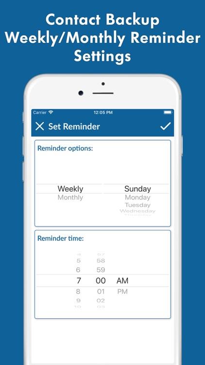 Contact Backup - Restore screenshot-4