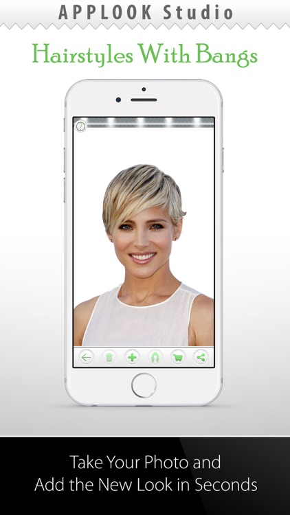 Hairstyle Try On With Bangs screenshot-0