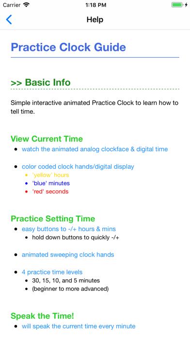 Practice Clock - Speak Time! Screenshots