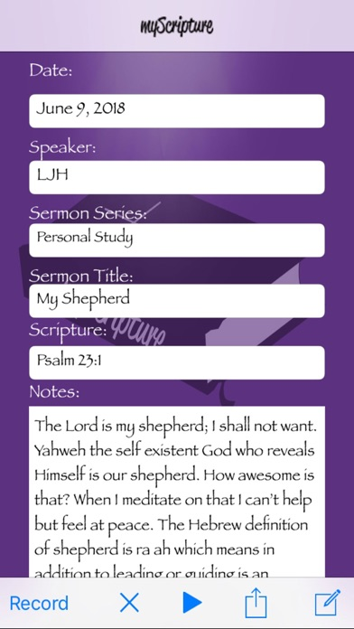 Screenshot for myScripture in United States App Store