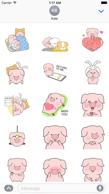 animated cute pink pig sticker by hoang trong