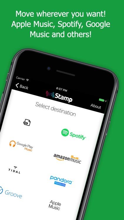 STAMP Transfer Music Playlists