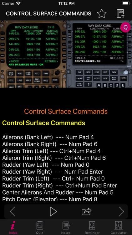 FSX Key Commands