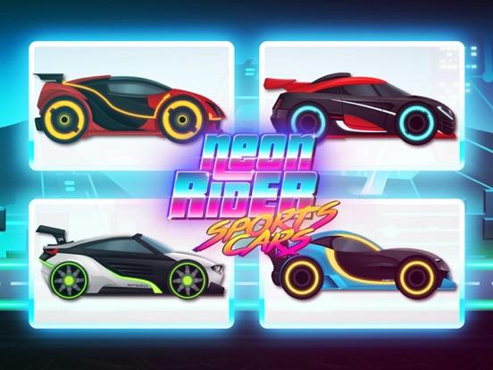 Neon Rider Drives Sports Car на iPad