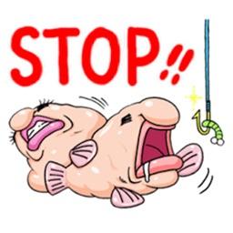 Lovely Blobfish Emoji Sticker