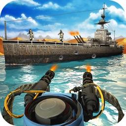 Gunship Shooter: Sea War Moder