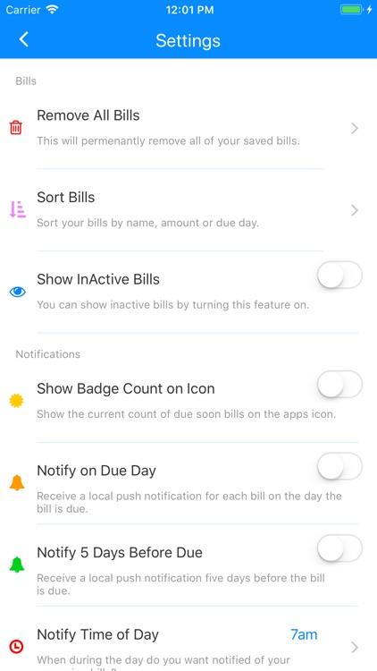 Simple Bill Reminders screenshot-5