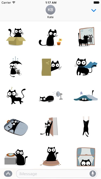 Carbon the Black Cat Stickers