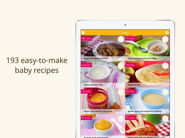 baby weaning and recipes on the app store