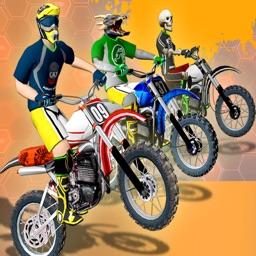 Dirt Bike Race Motocross Stunt