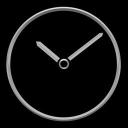Titanium Luxury Clock