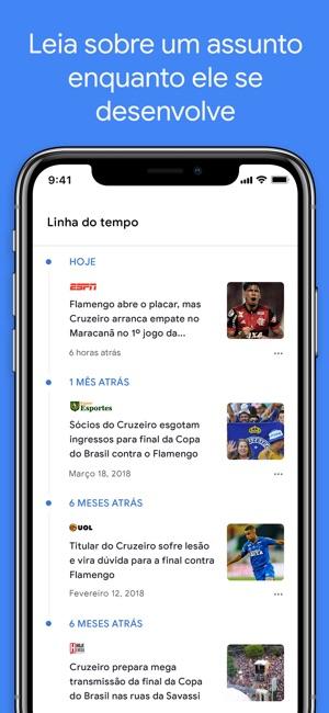 Google Notícias Screenshot