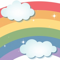 Rainbow of love stickers