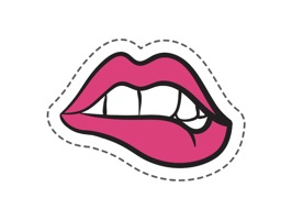 Cool lips stickers