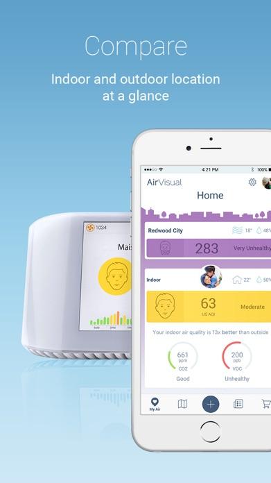 AirVisual Air Quality Forecast Screenshot