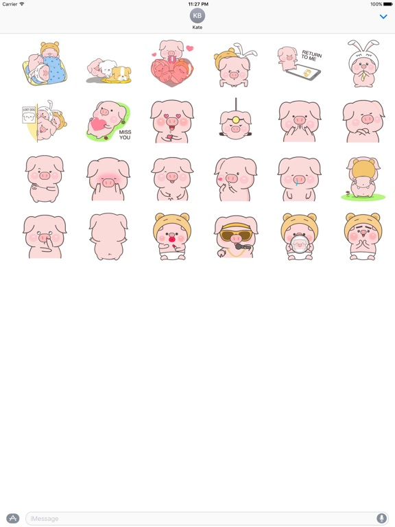 Animated Cute Pink Pig Sticker screenshot 3