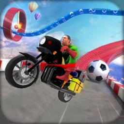 Superhero Bike Stunt Racing 3D