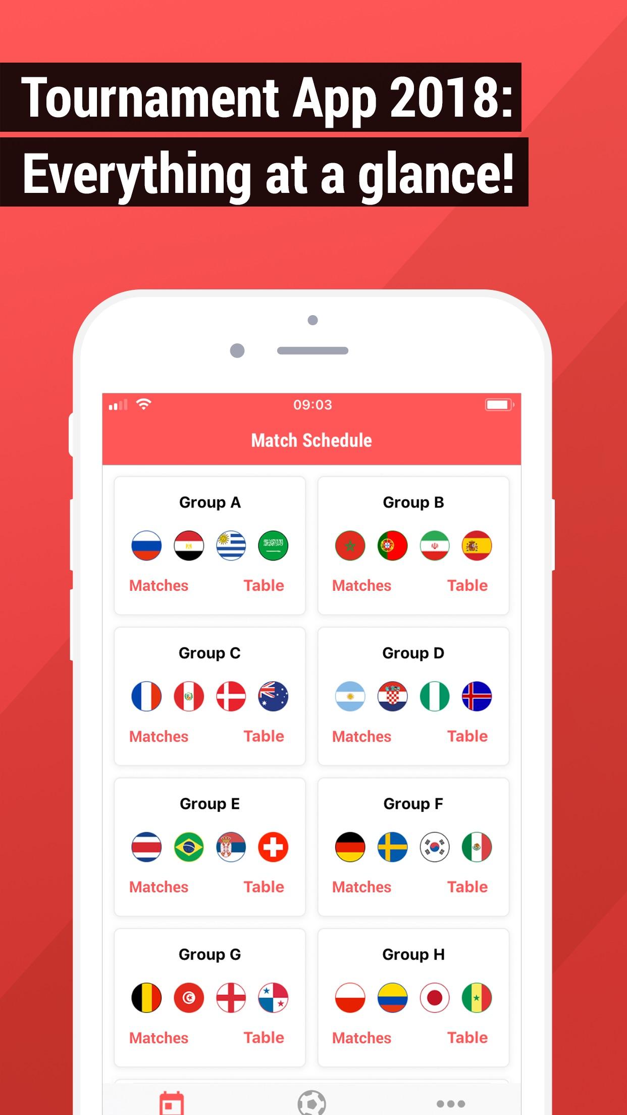 2018 Tournament App Screenshot