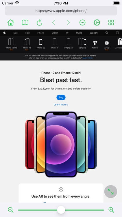 Zoomable - Desktop Browser