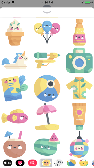 Cool Summer Party Stickers screenshot two