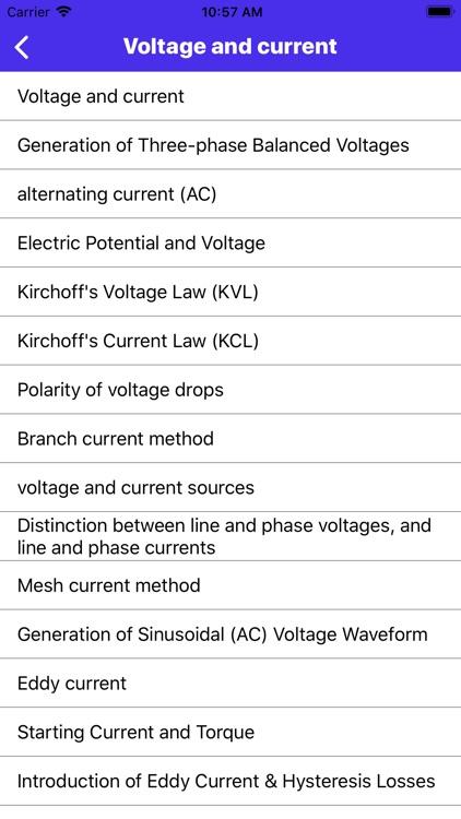 Electrical Engineering App screenshot-7