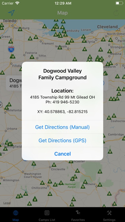 Ohio – Camping & RV spots screenshot-1