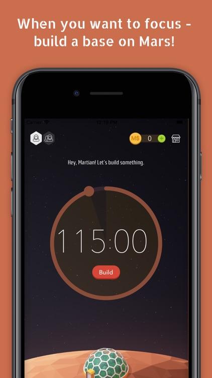 Mars Craft - Focus Timer Clock screenshot-0