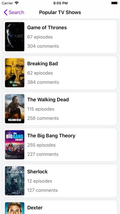 Rippple - TV & Movie Comments screenshot-9