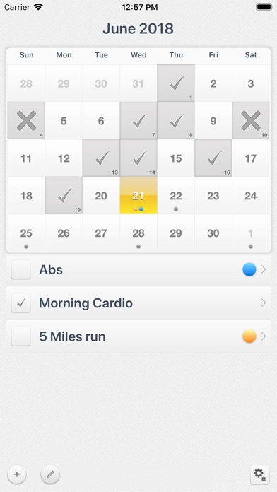 Workout Calendar review screenshots