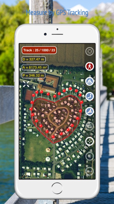 Planimeter - Field Area Measure on Map and by GPS Tracking Screenshot 4