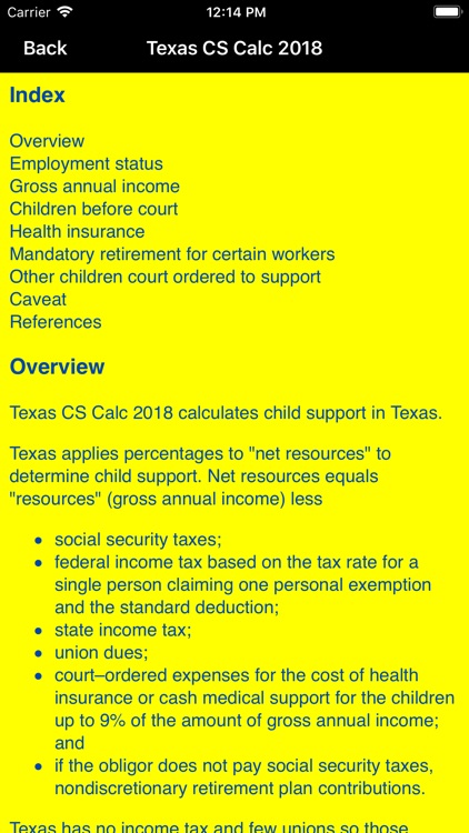 Texas Child Support Calc 2018 screenshot-3