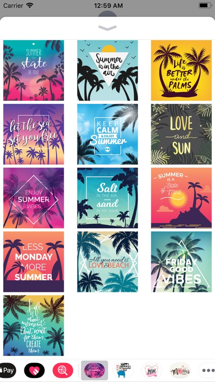Summer Holiday Quotes Stickers