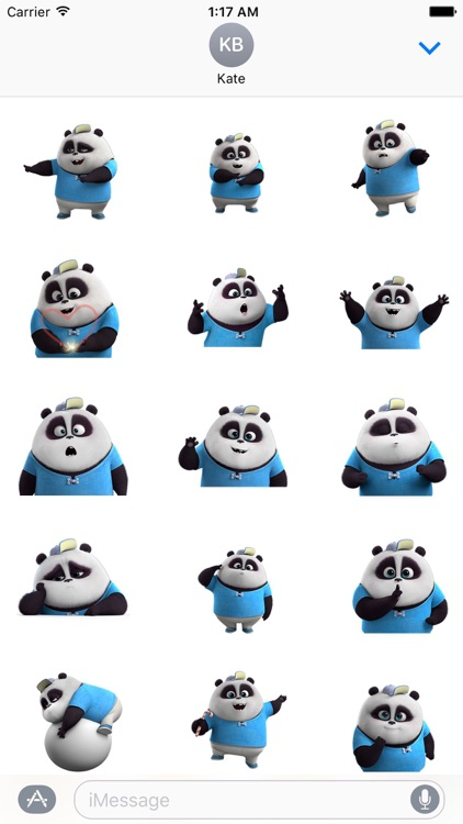 Funny Panda Animated Stickers