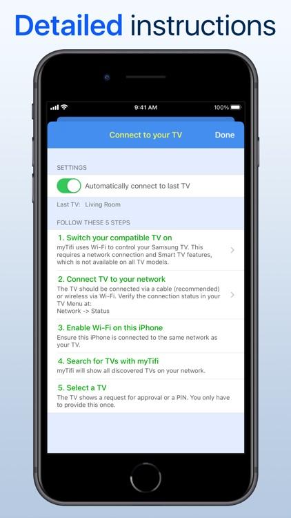 myTifi remote for Samsung TV screenshot-7