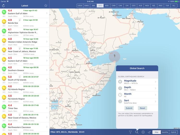 Earthquakes PAD screenshot-3