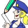 Draw Happy Police: Trivia Game