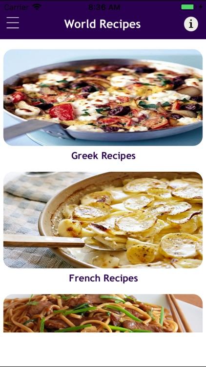 World Food Recipes Cookbook screenshot-3
