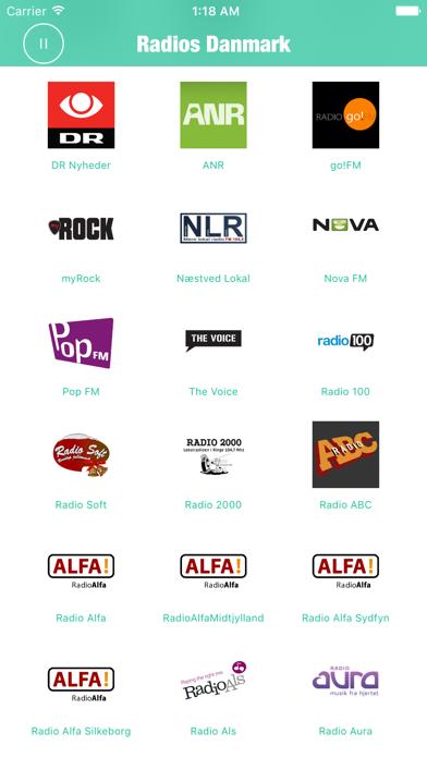 Radios Danmark (DR Radio FM) screenshot two