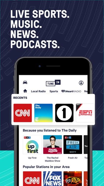 TuneInRadio: Music & Sports screenshot-0