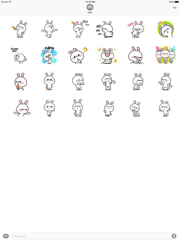 Animated Happy Rabbit Sticker screenshot 3