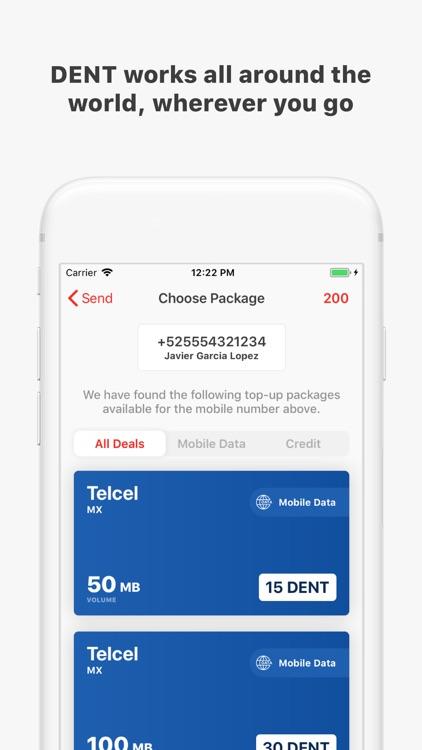 DENT - Send mobile data top-up screenshot-3