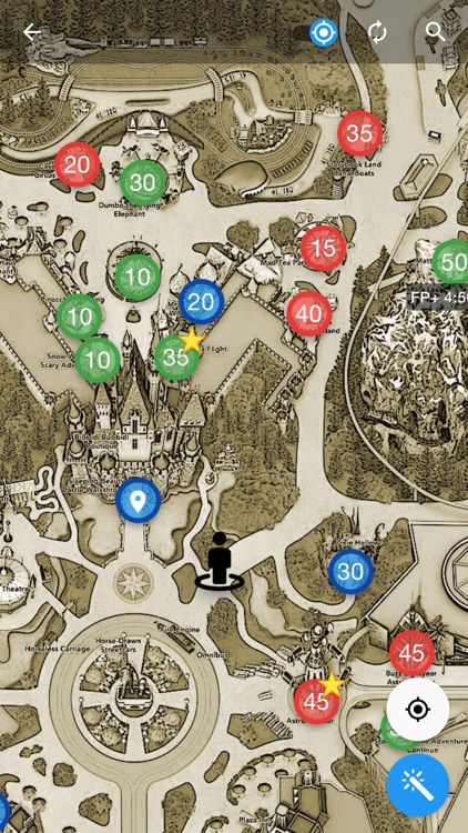 Merlin's Map for Disneyland
